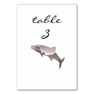 Reception Table Number Rustic Mountain Fish