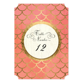 Reception Table Numbers Faux Gold Art Deco Wedding 13 Cm X 18 Cm Invitation Card