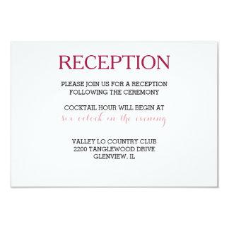 Reception Wedding Card