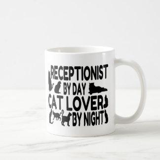 Receptionist Cat Lover Basic White Mug