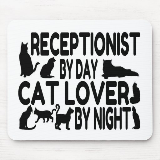 Receptionist Cat Lover Mousepads