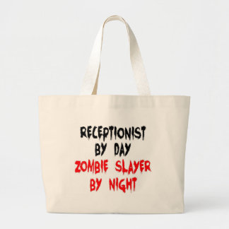 Receptionist Zombie Slayer Large Tote Bag