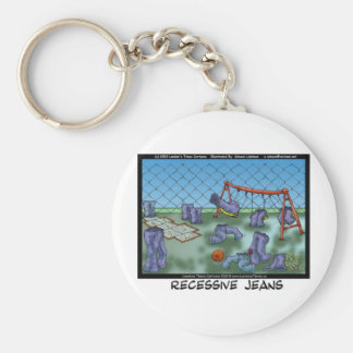 Recessive Jeans Funny Gifts Tees & Collectibles Key Ring