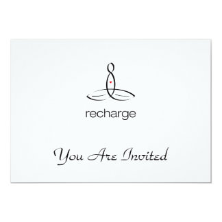 Recharge - Black Regular style 13 Cm X 18 Cm Invitation Card