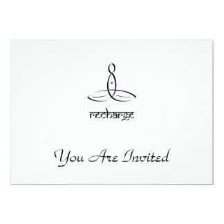 Recharge - Black Sanskrit style 13 Cm X 18 Cm Invitation Card
