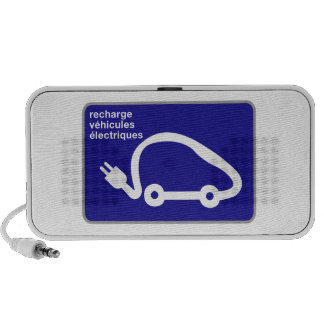 Recharge Stn Electric Cars, Traffic Sign, France Travel Speakers