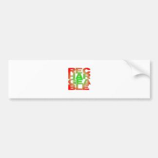 rechargeable bumper sticker
