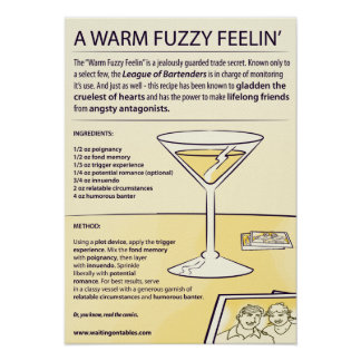 Recipe - A Warm Fuzzy Feelin' Poster