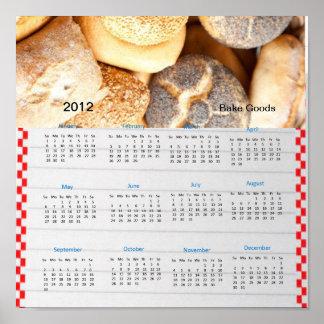 Recipe Bake Goods 2012 Calendar Poster