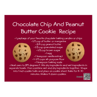 Recipe card Chocolate Chip Peanut Butter Cookie