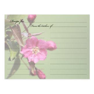 Recipe Card Crab Apple Blossom