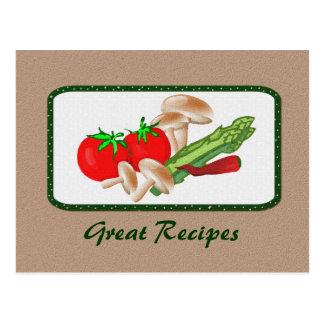 Recipe Card Postcard