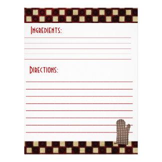 Recipe Card Stock Flyer