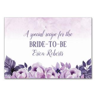 Recipe Card | Watercolor Purple Floral Elegant