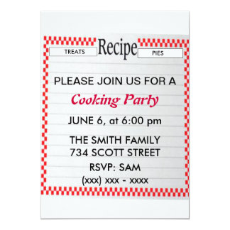 Recipe Cooking Party Invitation