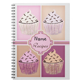 Recipe Cupcake Note Book