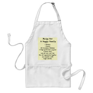 Recipe For A Happy Family! Standard Apron