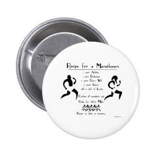 Recipe For a Marathoner 6 Cm Round Badge
