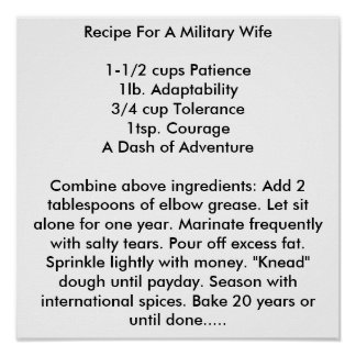 Recipe For A Military Wife Poster