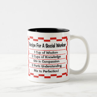 Recipe for a Social Worker Two-Tone Coffee Mug