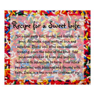 Recipe for a Sweet Life Poster