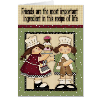 Recipe of life greeting card