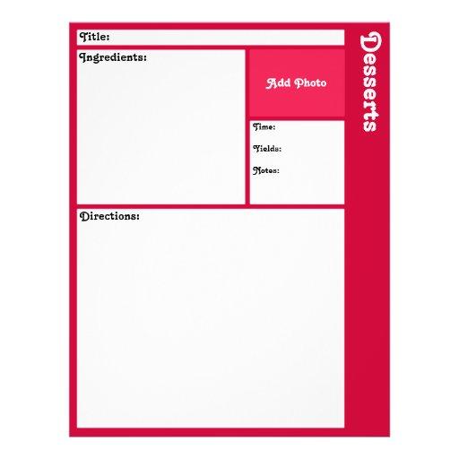 Recipe Page (Magenta) Flyer