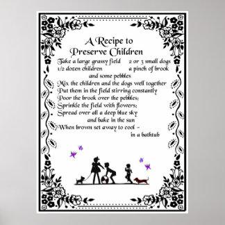 recipe to preserve children poster