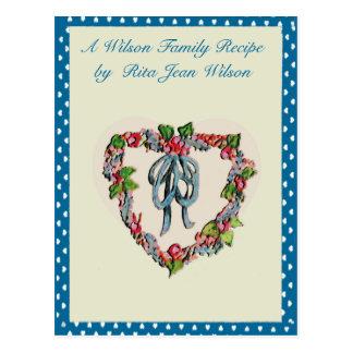 Recipes Cards Postcard