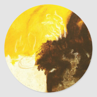 Reckless Abandon From Original Painting Round Sticker