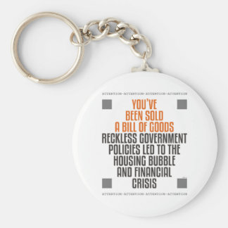 Reckless Government Policies Key Ring