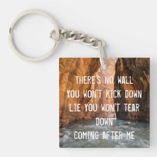 Reckless Love Lyrics Keychain