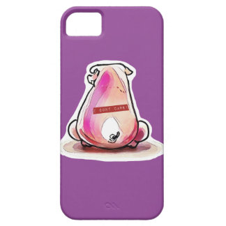 reckless pig and text strip on his back iPhone 5 cover