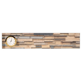 Reclaimed Wood, Sustainable Material Nameplate