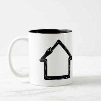 Reclamation Administration logo black on white. Two-Tone Coffee Mug