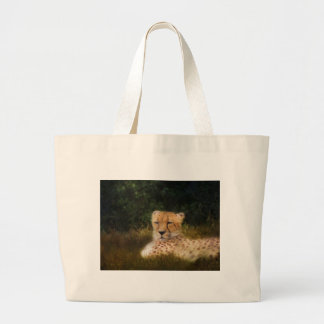 Reclining Cheetah at Fossil Rim Wildlife Center Large Tote Bag