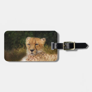 Reclining Cheetah at Fossil Rim Wildlife Center Luggage Tag