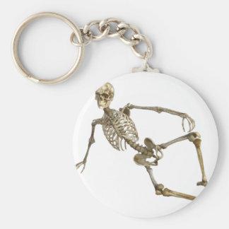 Reclining Skeleton Key Ring