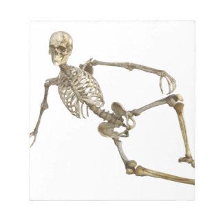 Reclining Skeleton Notepad