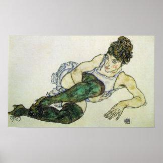 Reclining woman Egon Schiele 24W x 15H Print