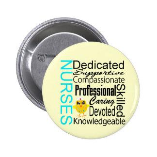 Recognize a Nurse:  Nurses Recognition Collage 6 Cm Round Badge