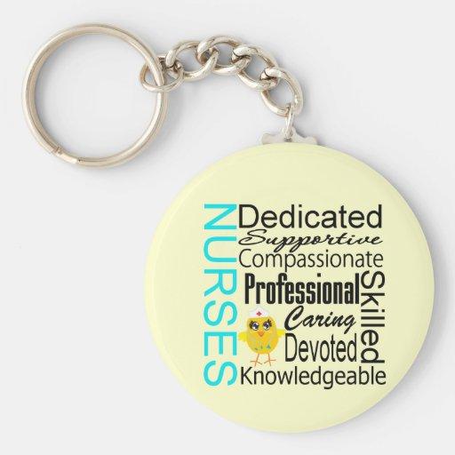 Recognize a Nurse:  Nurses Recognition Collage Key Chains