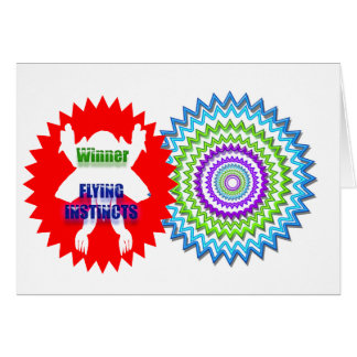 Recognize Excellence : Winner Flying Instincts Greeting Card
