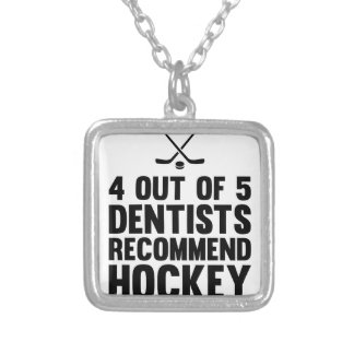 Recommend Hockey Silver Plated Necklace