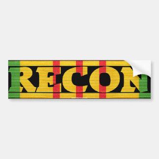 Recon Vietnam Service Medal Bumper Sticker