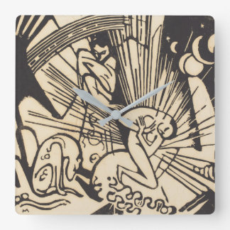 Reconciliation Versoehnung Square Wall Clock
