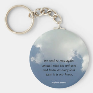 reconnect with the universe basic round button key ring
