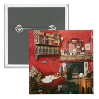 Reconstruction of Sherlock Holmes's Room 15 Cm Square Badge