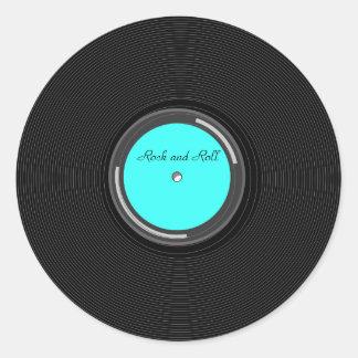 Record Album Classic Round Sticker