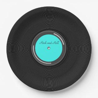 Record Album Paper Plate